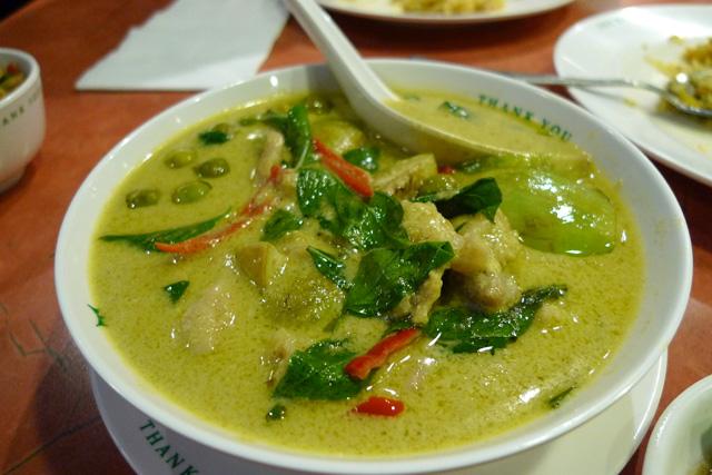 Jasmin thai - Cuisine thai poulet curry vert ...